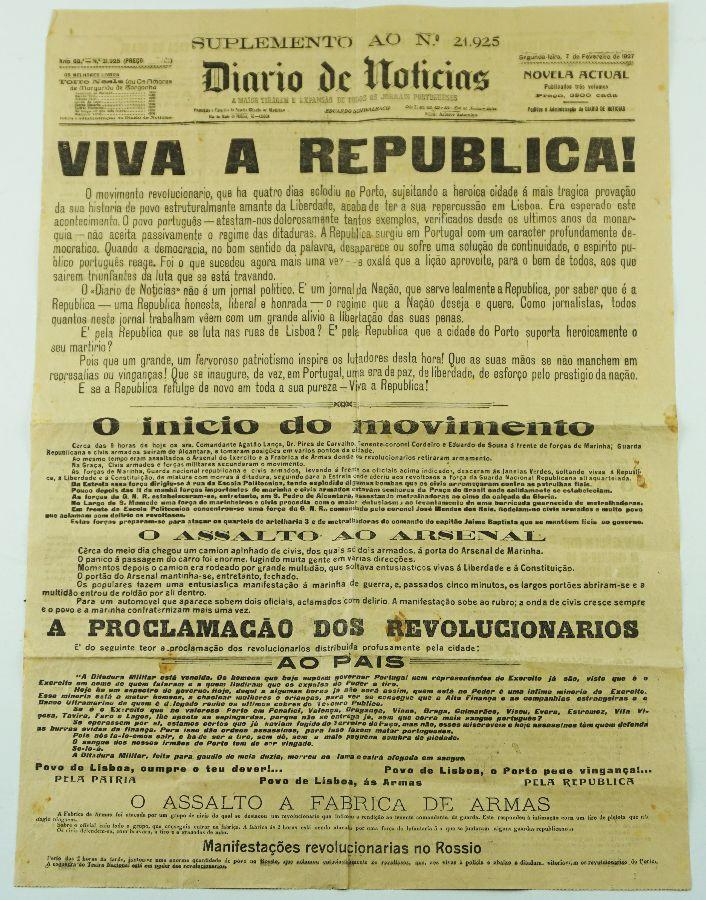 Cartaz / Suplemento Diário de Noticias Revolução 1927