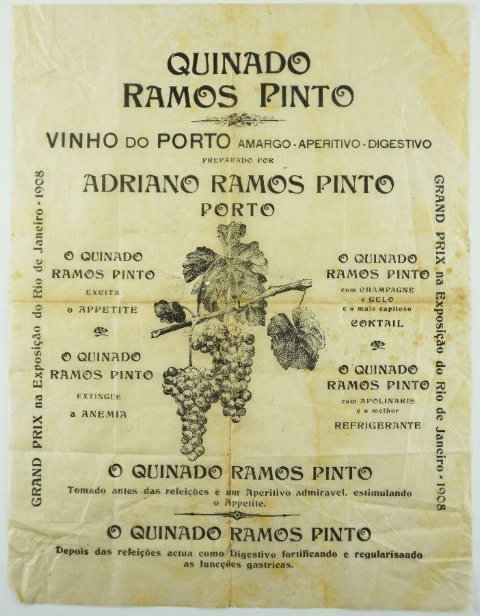 Cartaz Publicidade Vinhos do Porto Ramos Pinto