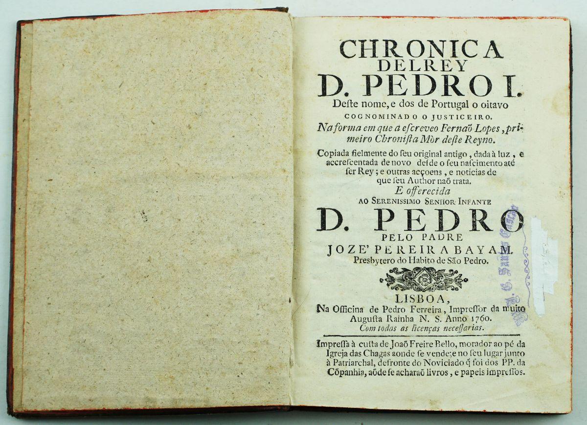 Chronica Delrey D. Pedro I