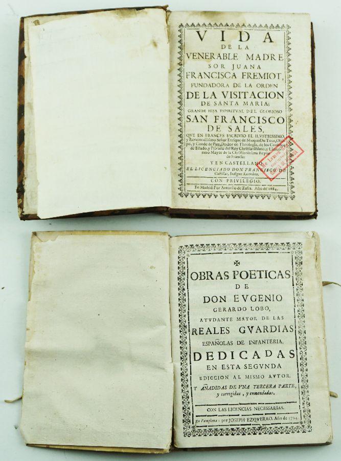 Livros Séc. XVII e Séc. XVIII
