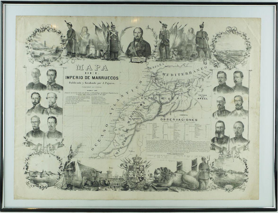 Mapa do Império Marroquino