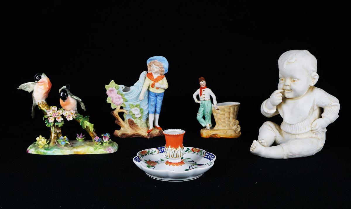 5 Peças em porcelana / biscuit