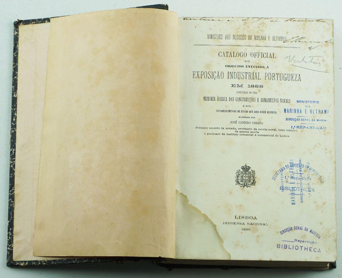 Catálogo official dos objectos enviados à Exposição Industrial Portugueza em 1888