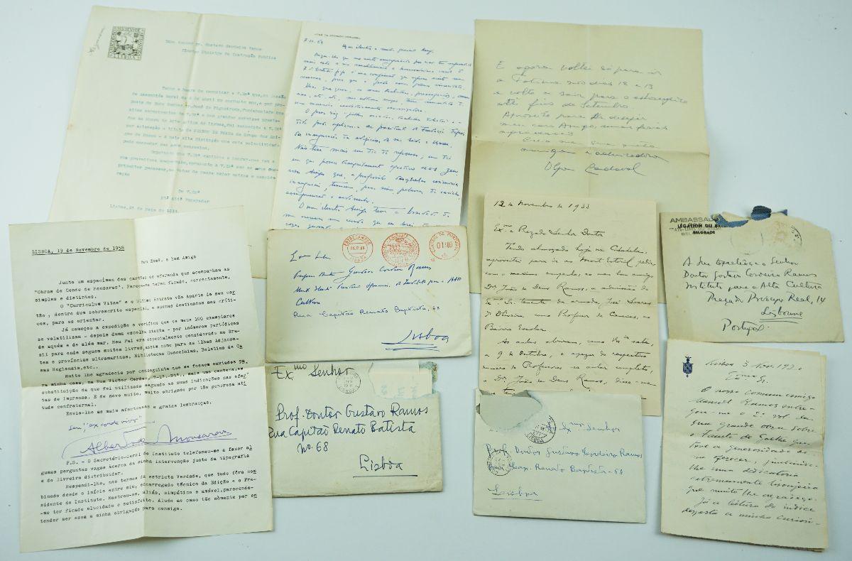 Notável colecção de 9 cartas