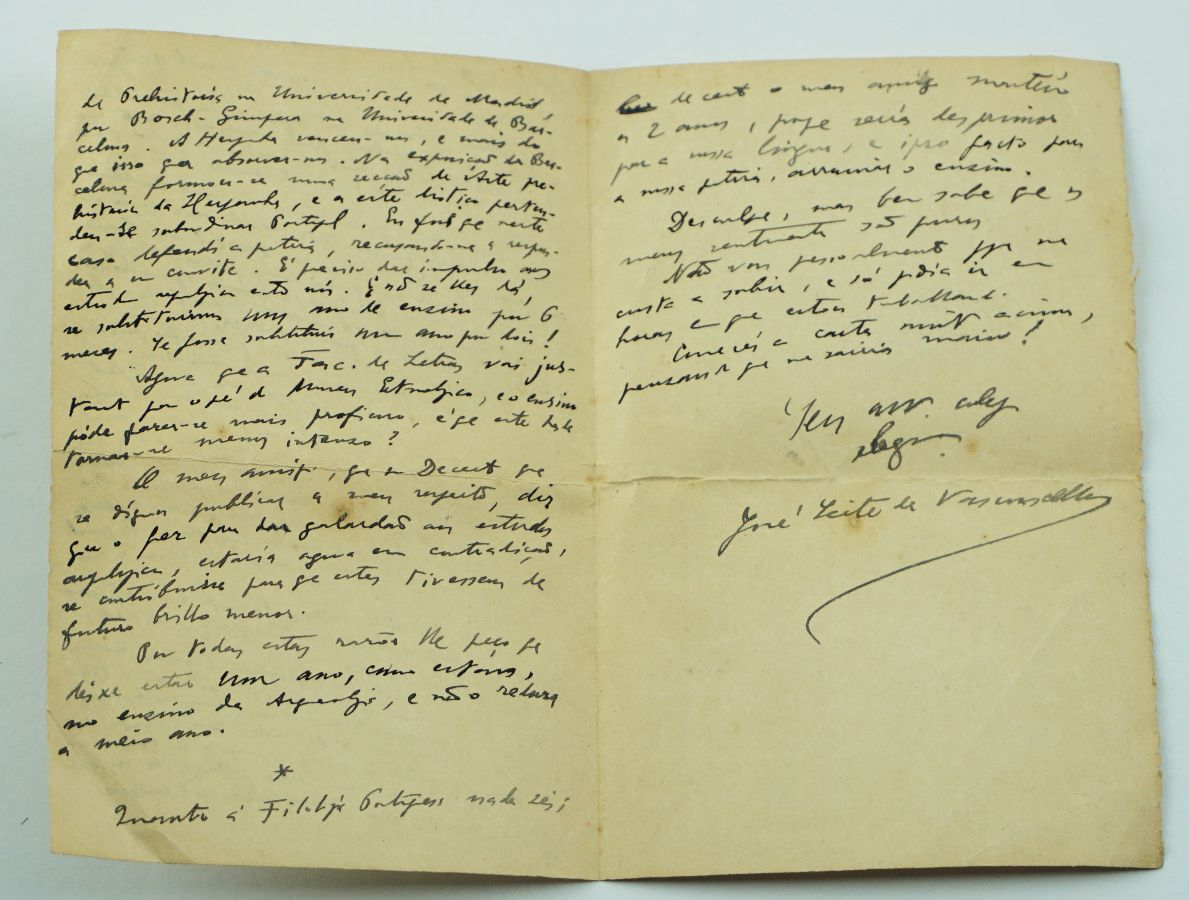 Manuscrito de José Leite de Vasconcellos