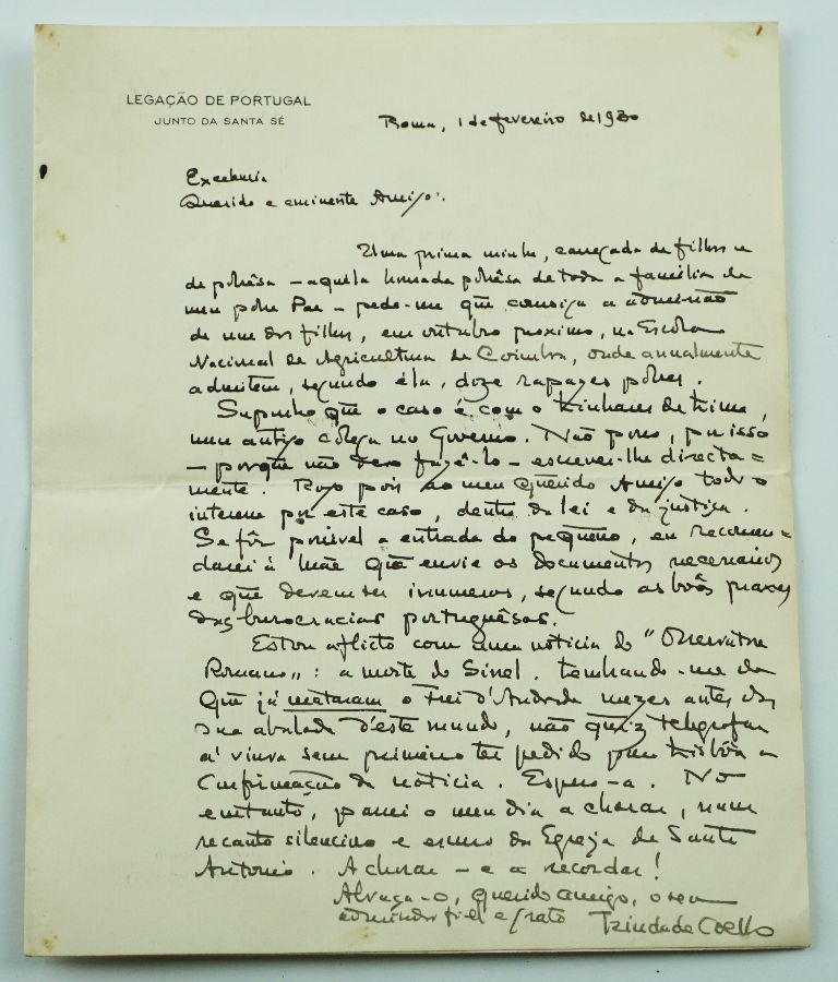 Manuscrito Trindade Coelho