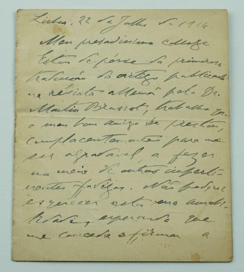 Manuscrito Teófilo Braga