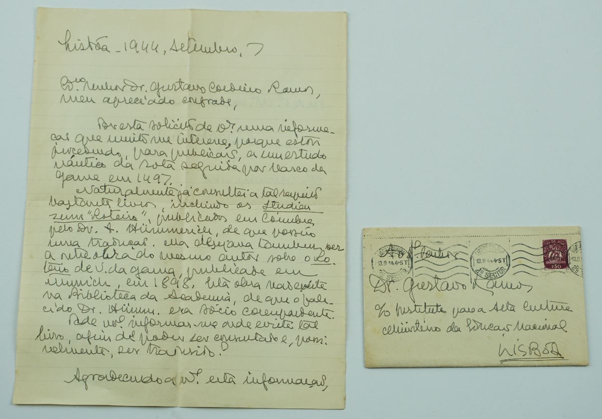 Manuscrito Gago Coutinho