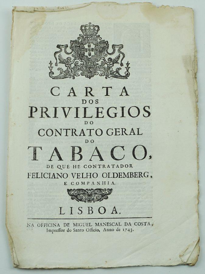 Carta dos Privilégios do Contrato Geral do Tabaco, 1743