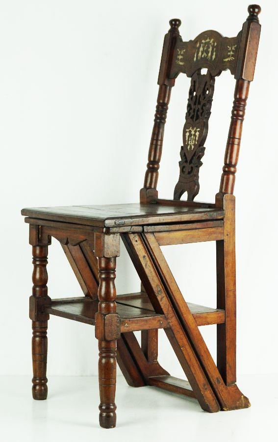Cadeira/Escadote de biblioteca
