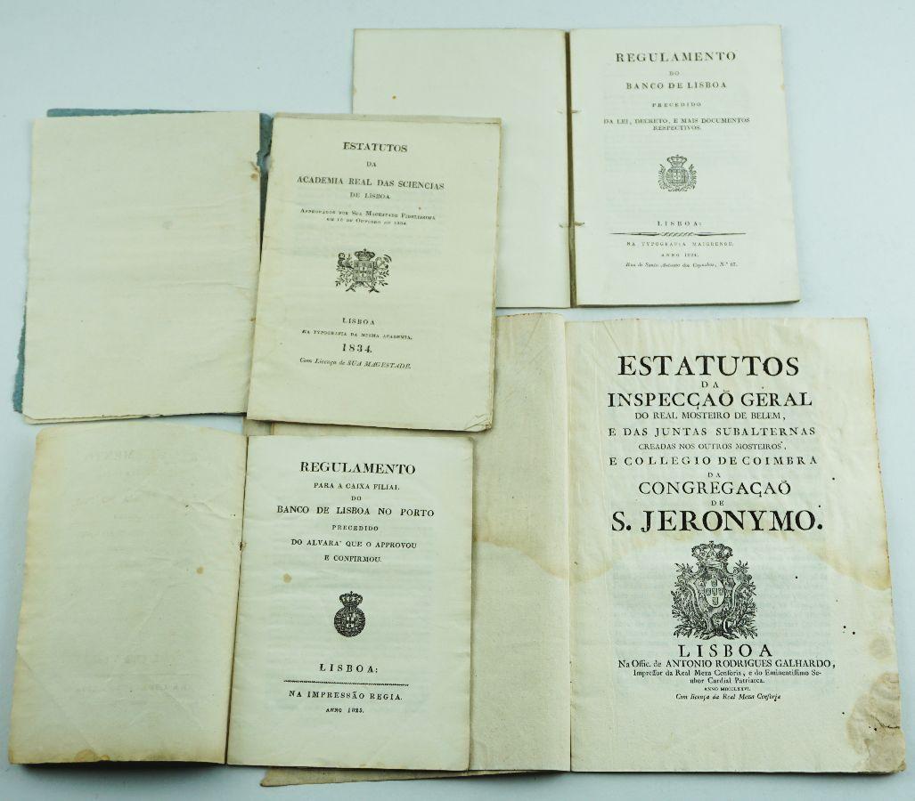 Estatutos e Regulamentos Séc. XVIII e XIX