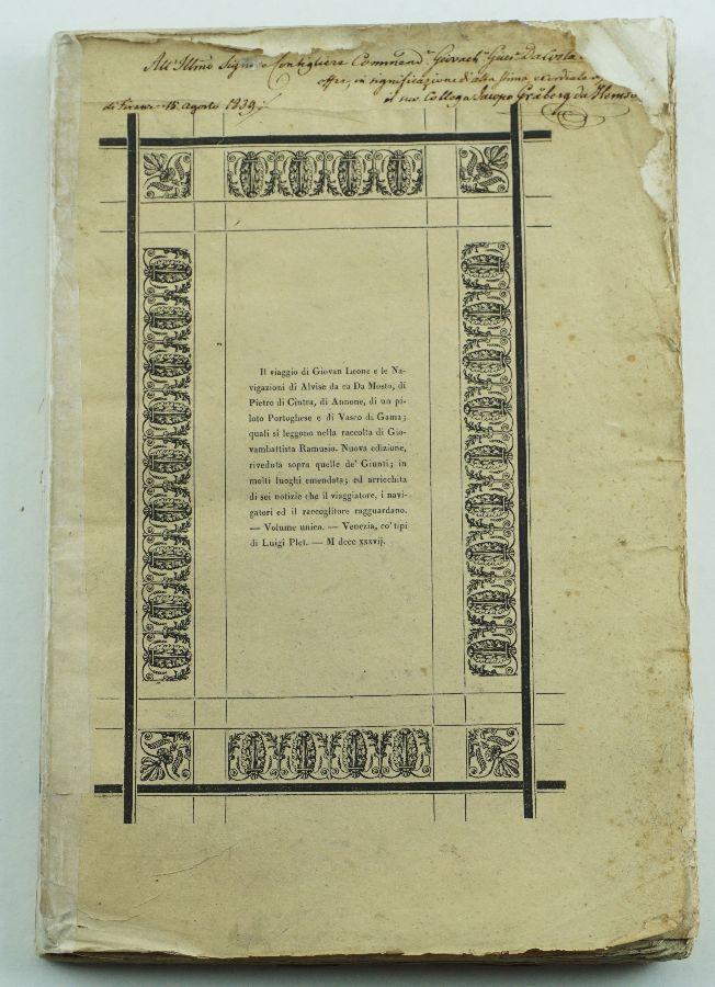 Livro de Viagens, 1837