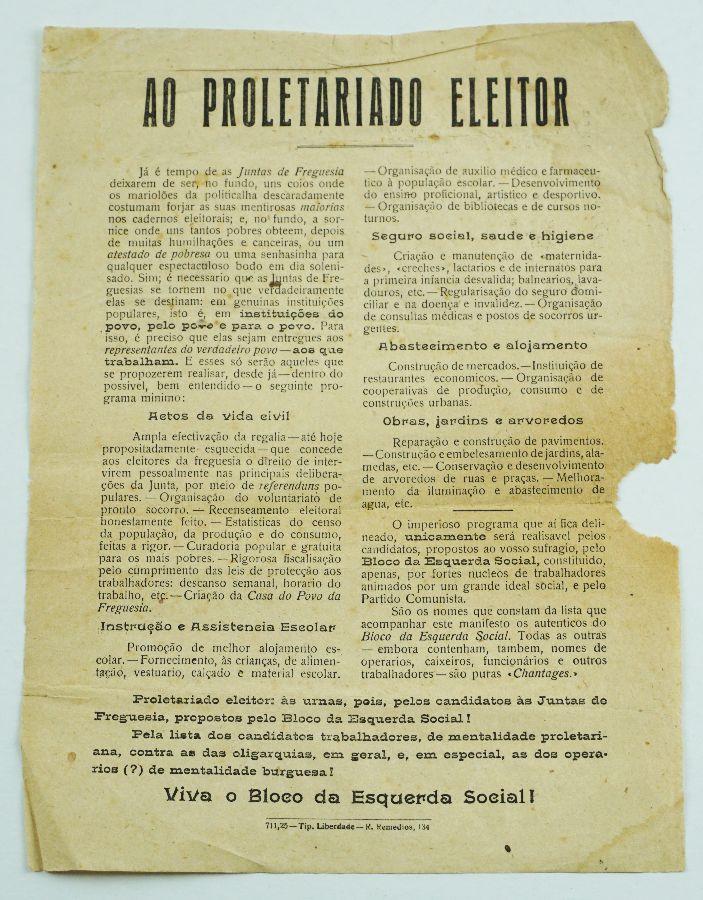 As primeiras eleições em que o Partido Comunista Português concorreu (1925)