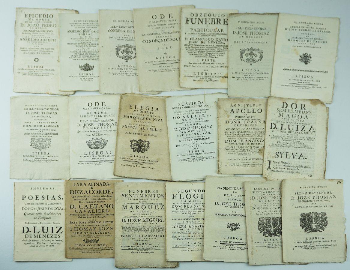 Importante Colleção de folhetos do séc. XVIII e XIX
