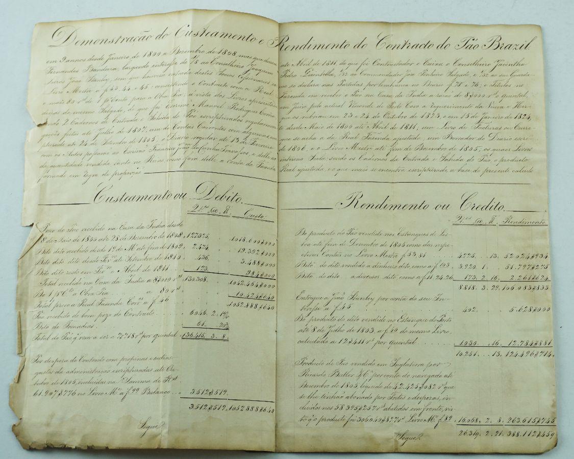 Manuscrito, 1806