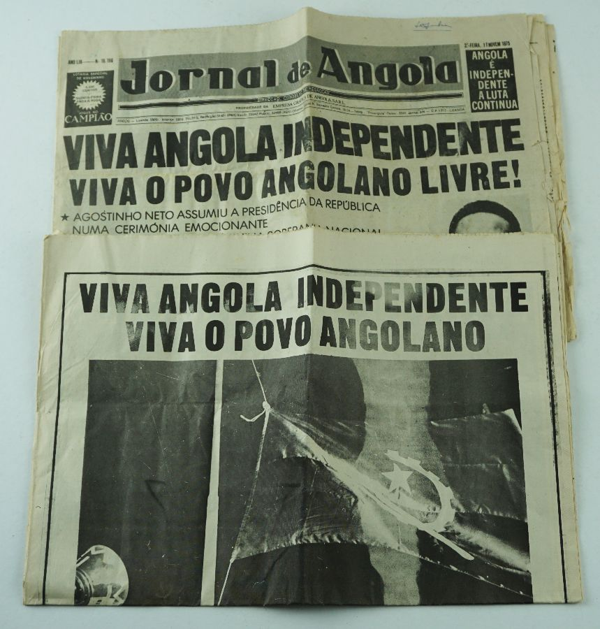 Raro documento independência Angola
