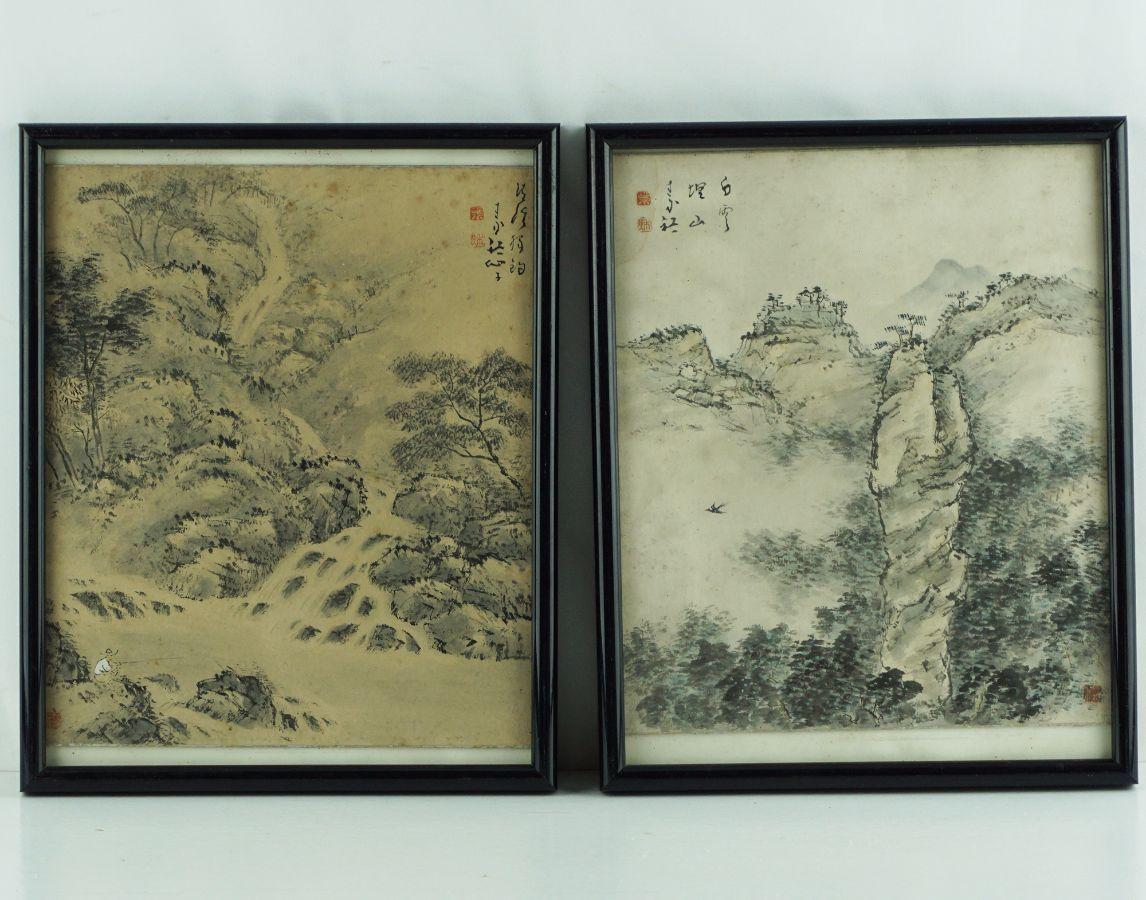 4 Quadros com pinturas Chinesas