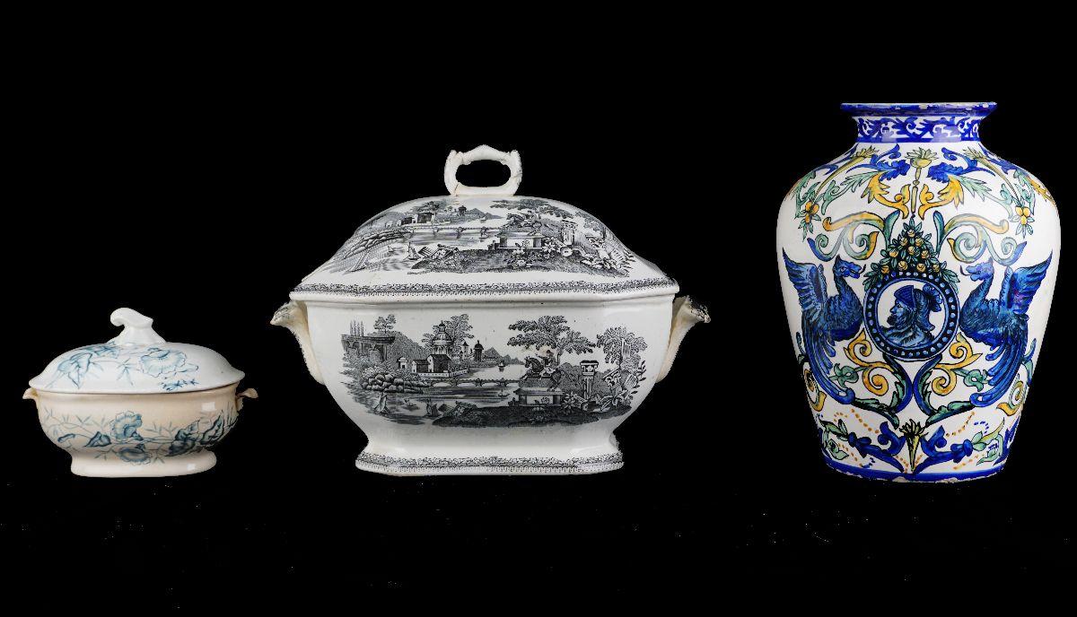 3 Peças em cerâmica Portuguesa