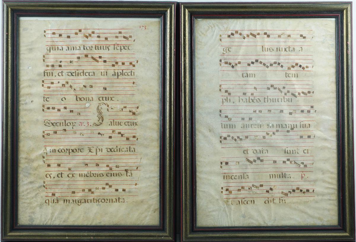 2 Pautas Musicais (Cantochão?)