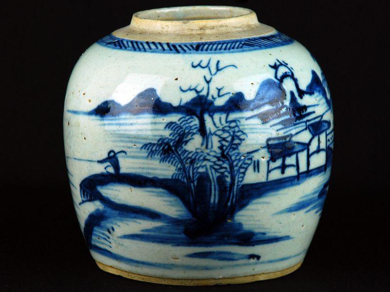 Pote Chinês em Porcelana