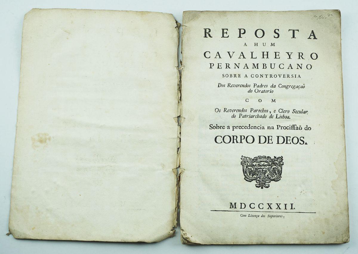 Resposta a Hum Cavalheryro Pernambucano(…), 1722
