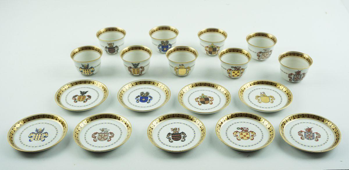 Taças de Chá brazonadas