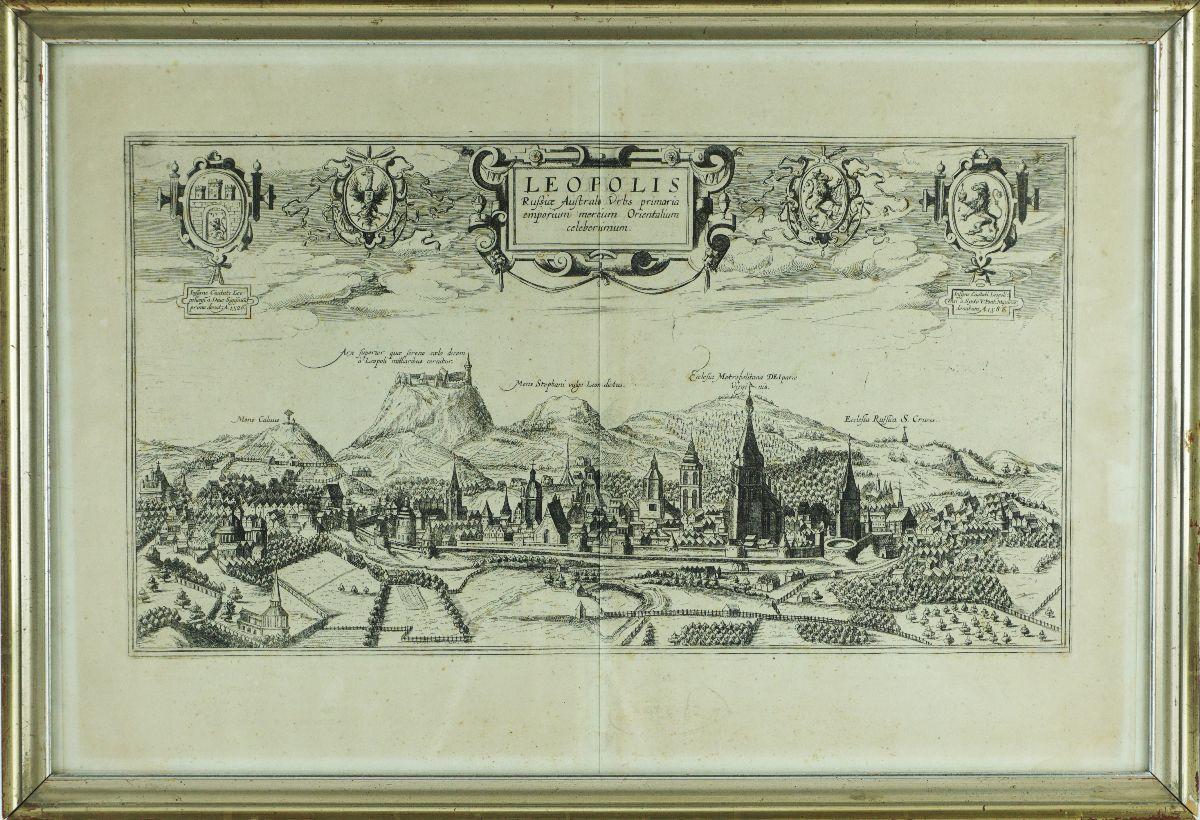 Gravura de Leopolis, Russiae Australe Urbs Primaria