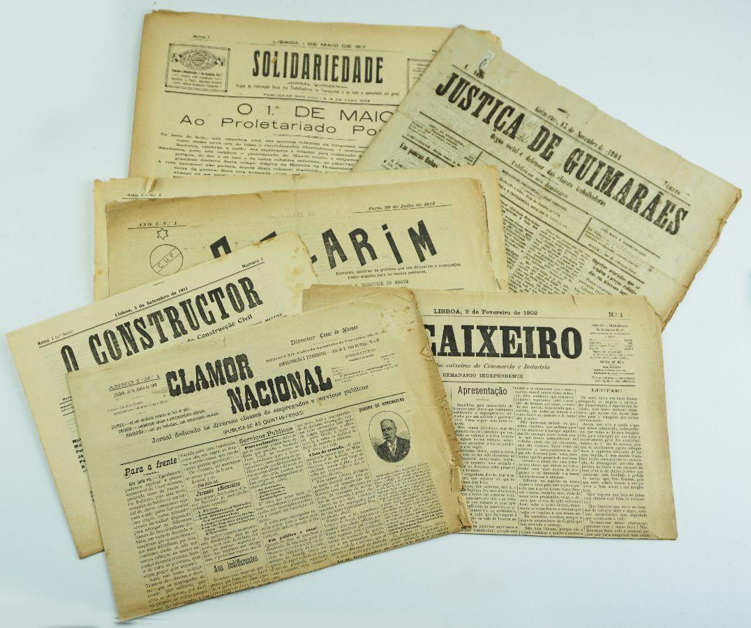 Números 1 de jornais sindicais portugueses