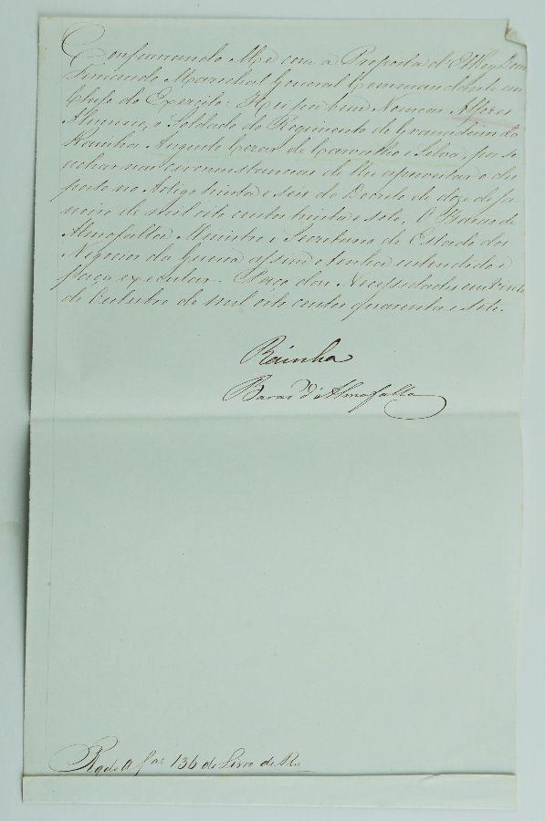 Carta patente assinada pela Rainha Maria II (1847)