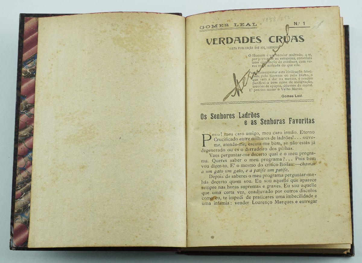 Gomes Leal – Verdades Cruas (1909)