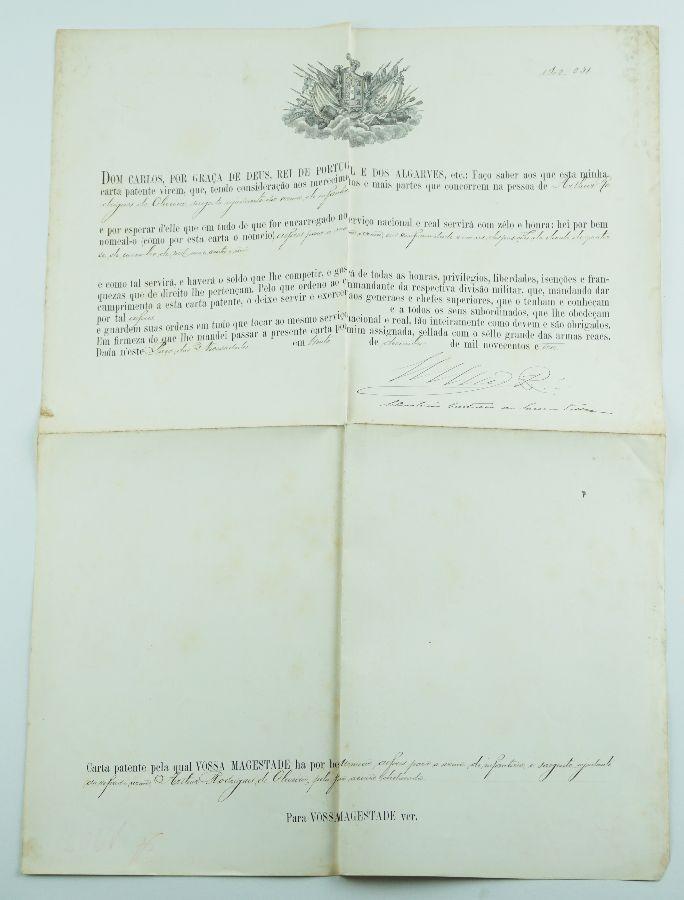 Carta patente de D. Carlos (1903)