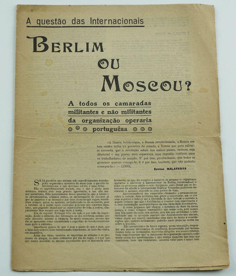 Manifesto de Sindicalistas Comunistas (1923)