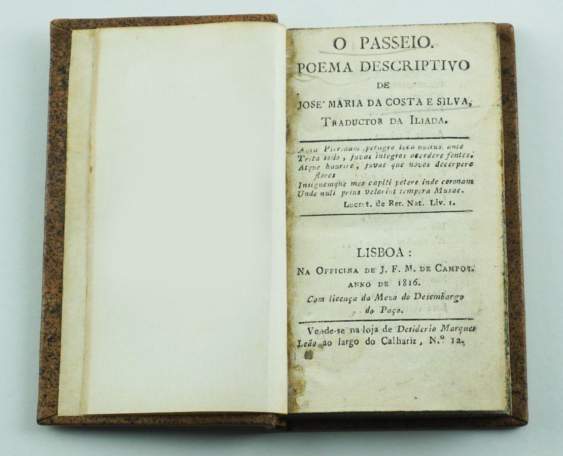 O Passeio, poema descritivo (1816)