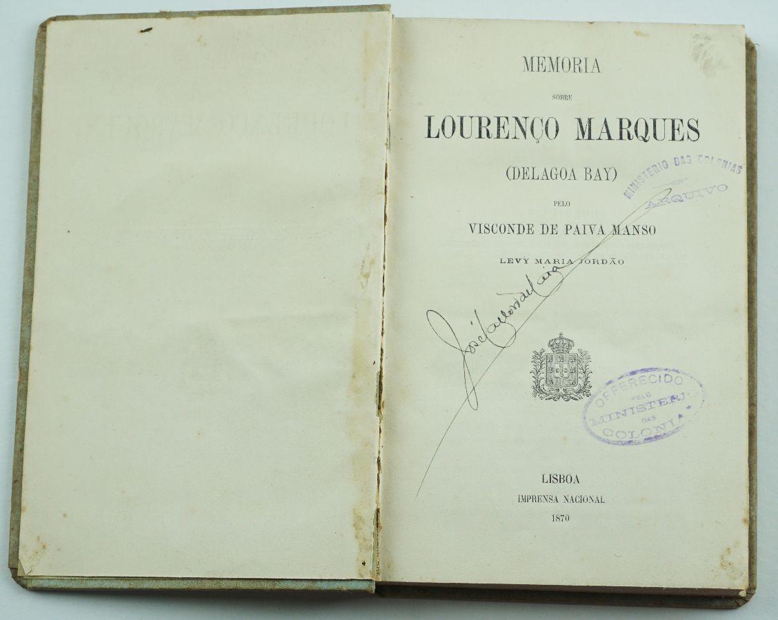 Memória sobre Lourenço Marques ( Delagoa Bay, 1870)