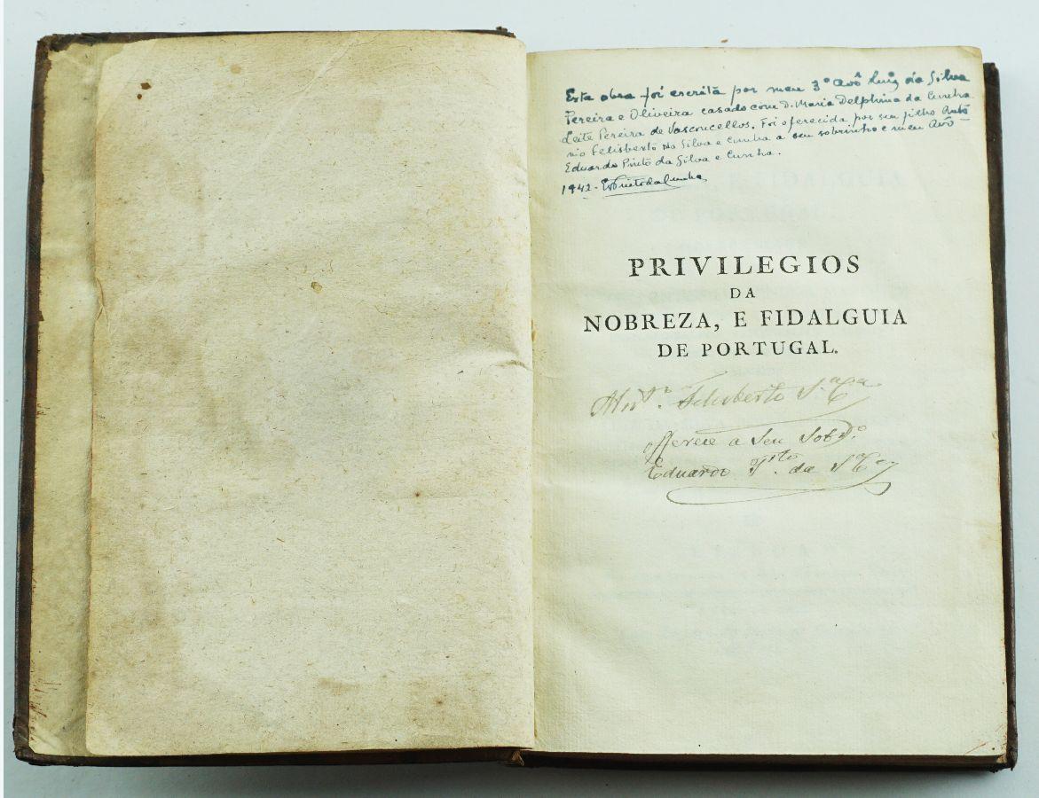 PRIVILÉGIOS DA NOBREZA E FIDALGUIA DE PORTUGAL.1806