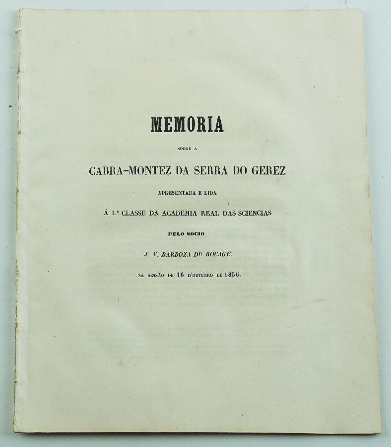 CABRA DO GEREZ. BOCAGE 1856