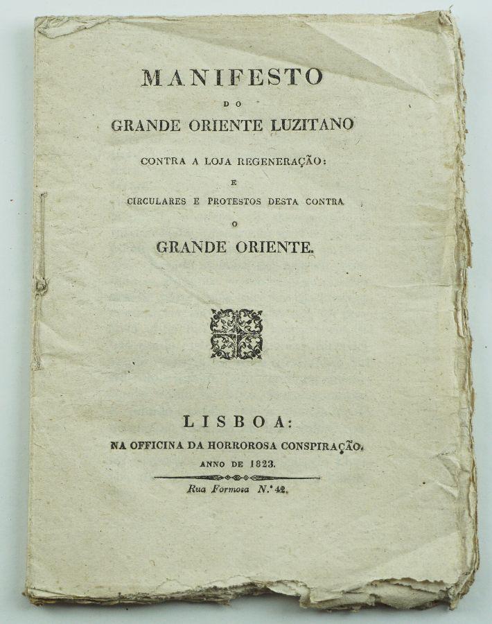 MAÇONARIA – MANIFESTO DO GRANDE ORIENTE LUZITANO. 1823.