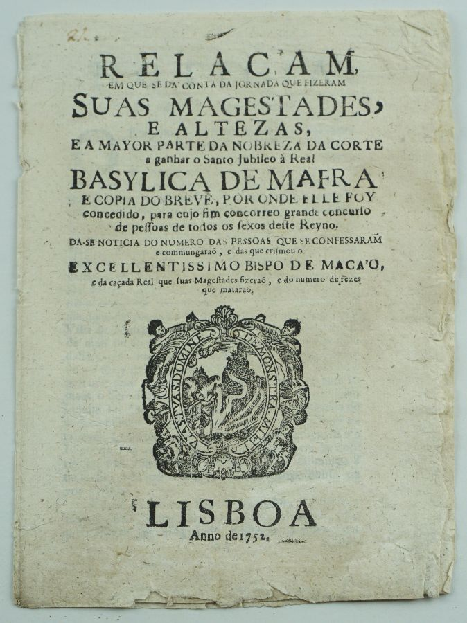 CAÇADA REAL EM MAFRA. 1752.