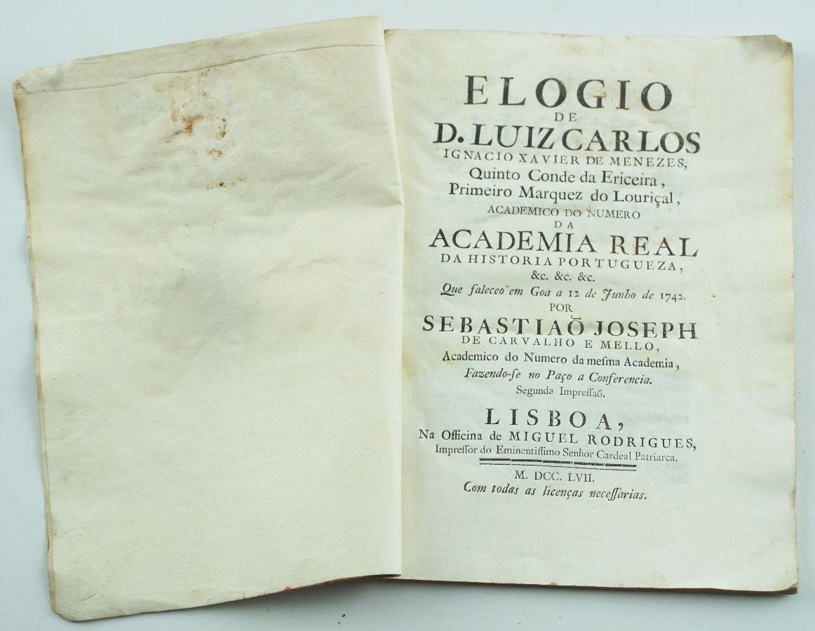 MARQUÊS DE POMBAL. 1757