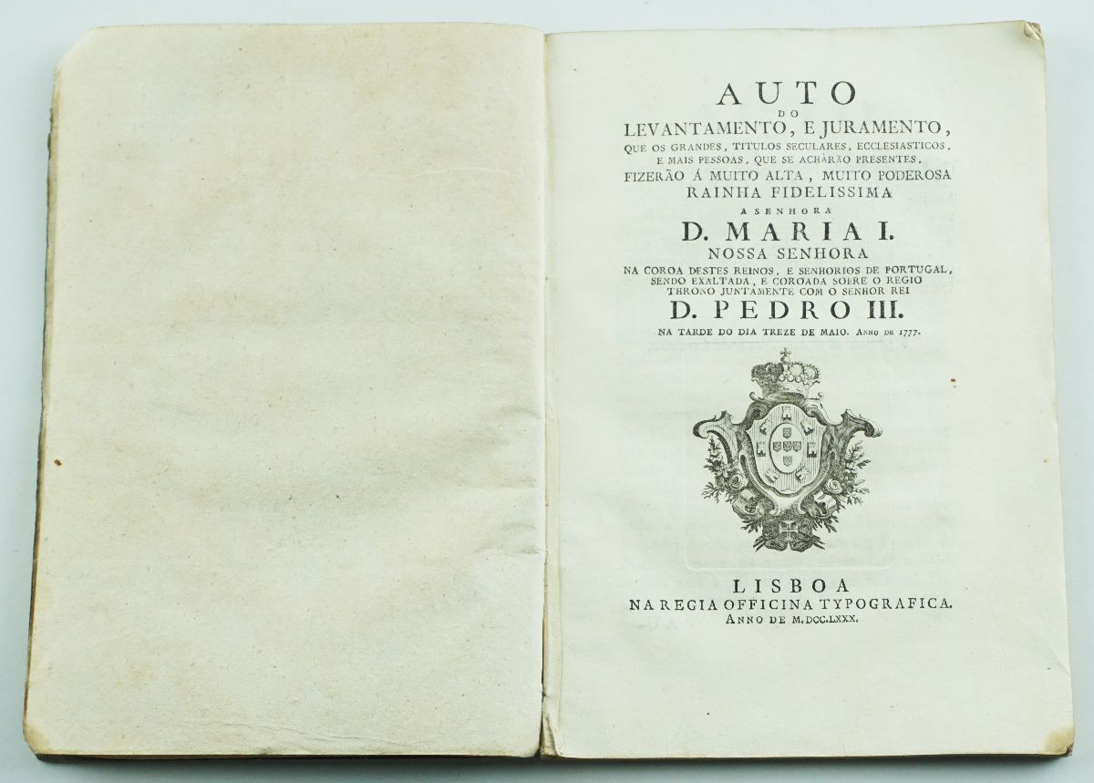 AUTO DE JURAMENTO A D.MARIA I. 1780.