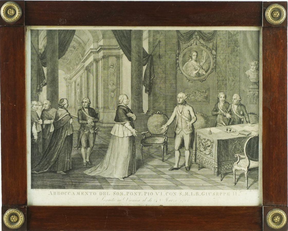 Papa Piu VI com Giuseppe II