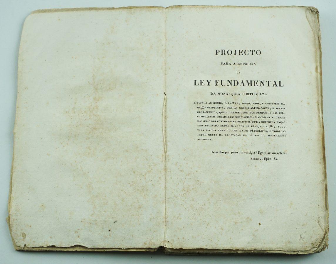 Projecto Reforma da Ley Fundamental e Constituição Politica do Império do Brasil