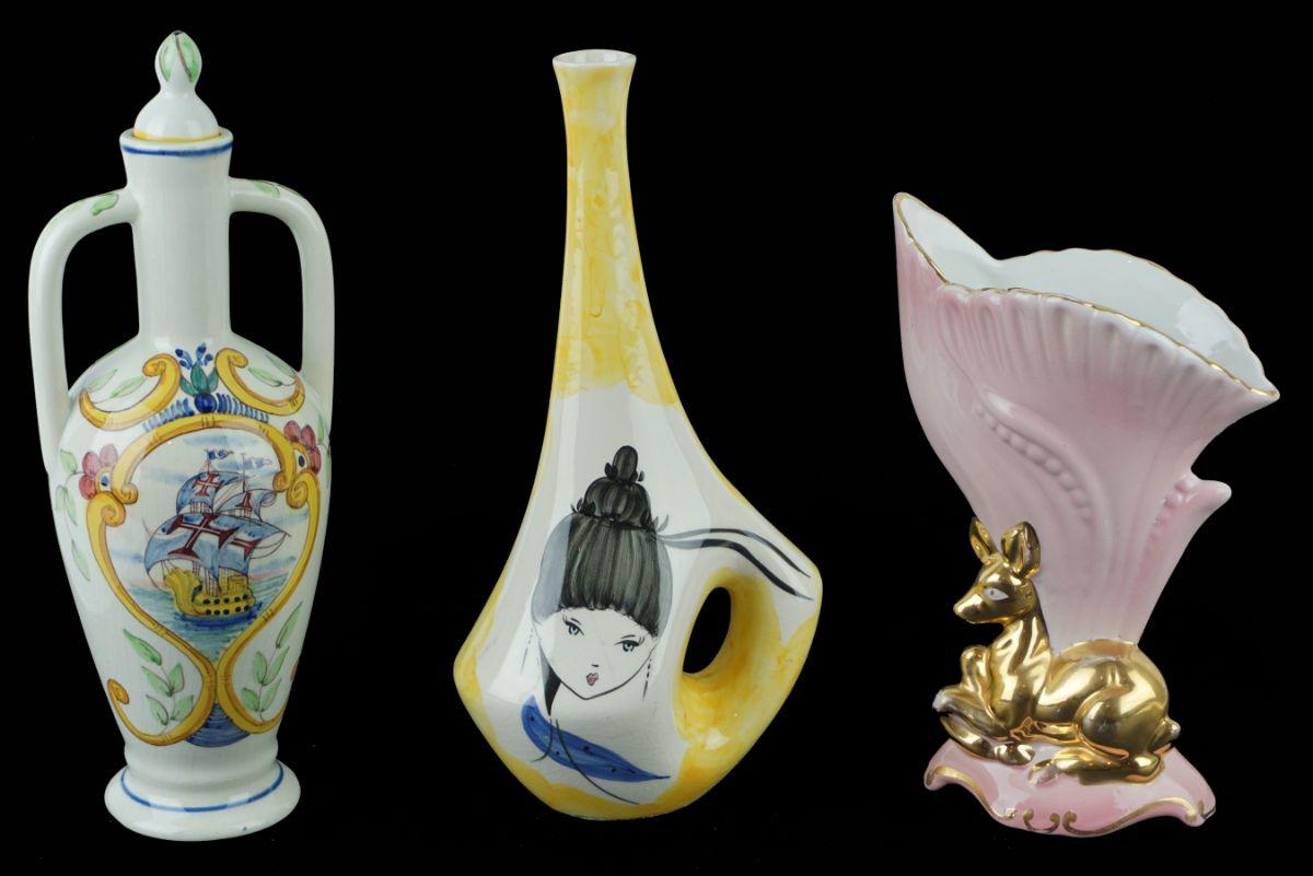 3 Peças em cerâmica