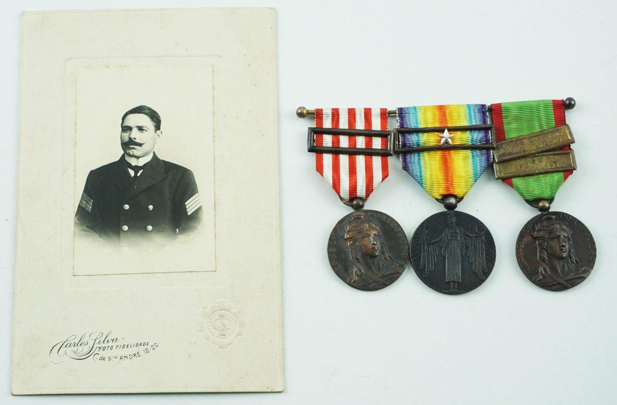 Conjunto de Condecorações da 1ª Guerra Mundial