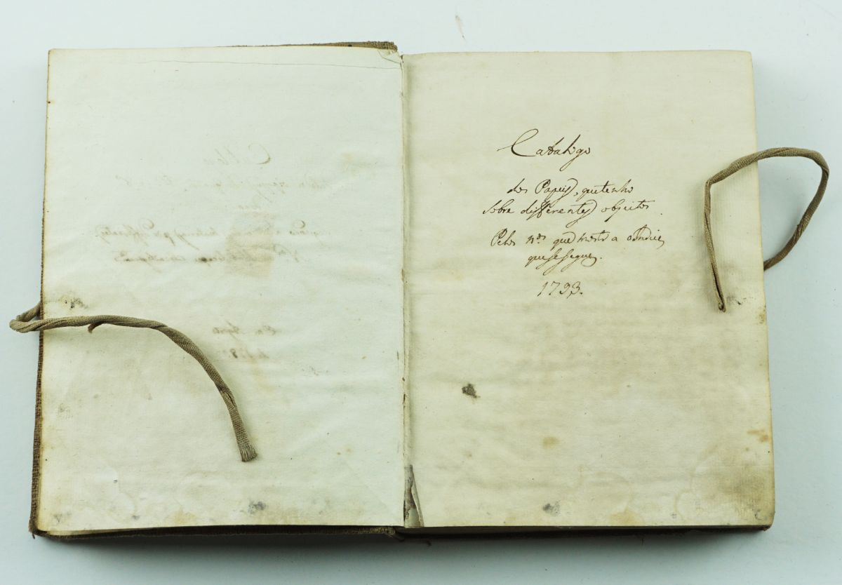 Livro Catálogo Manuscrito Português 1789