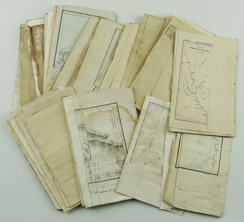 Mapas de explorações Séc. XVIII e XIX