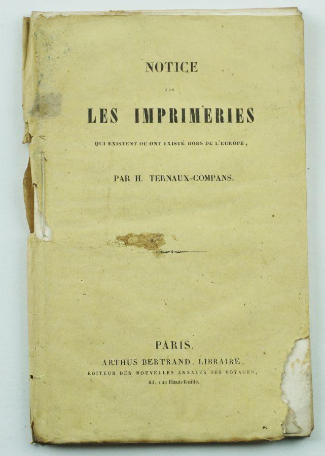 Notice Sur Les Imprimeries