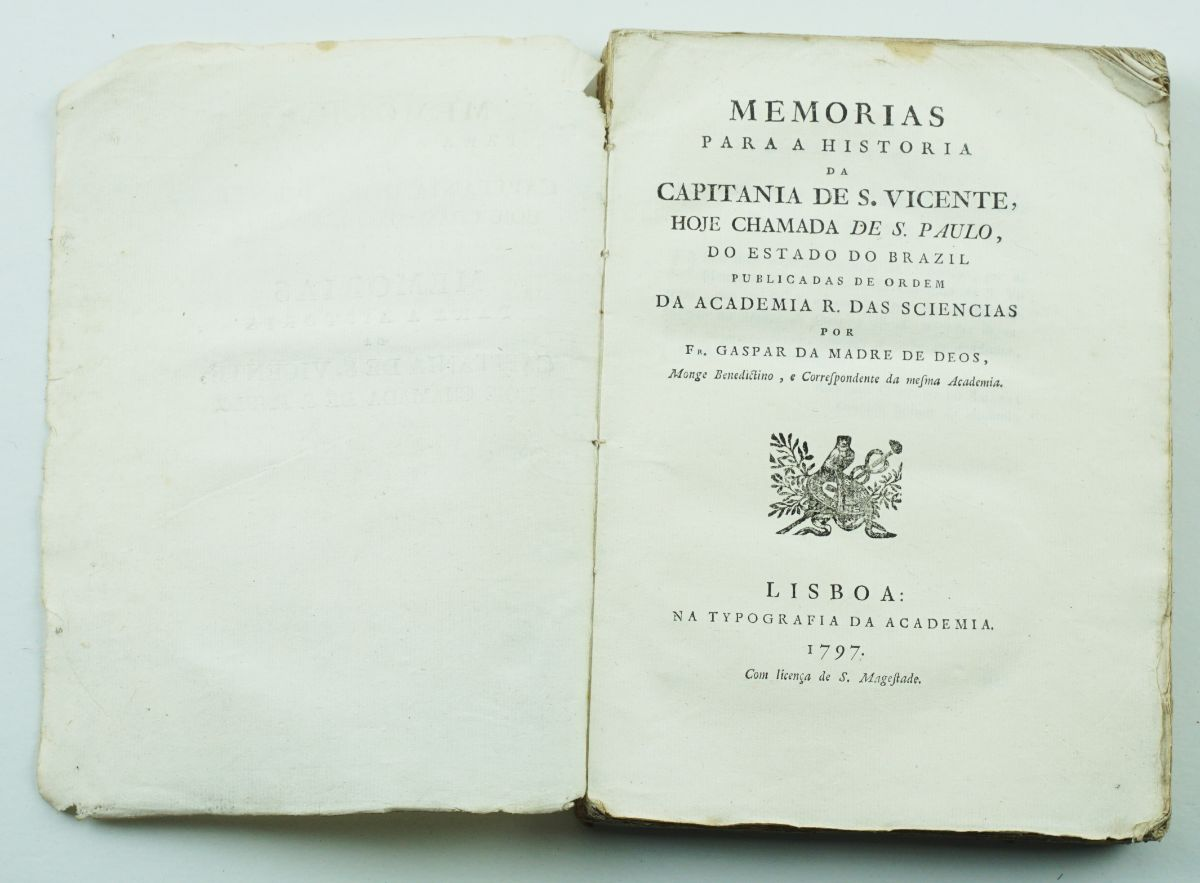Memórias para a História da Capitania de S. Vicente