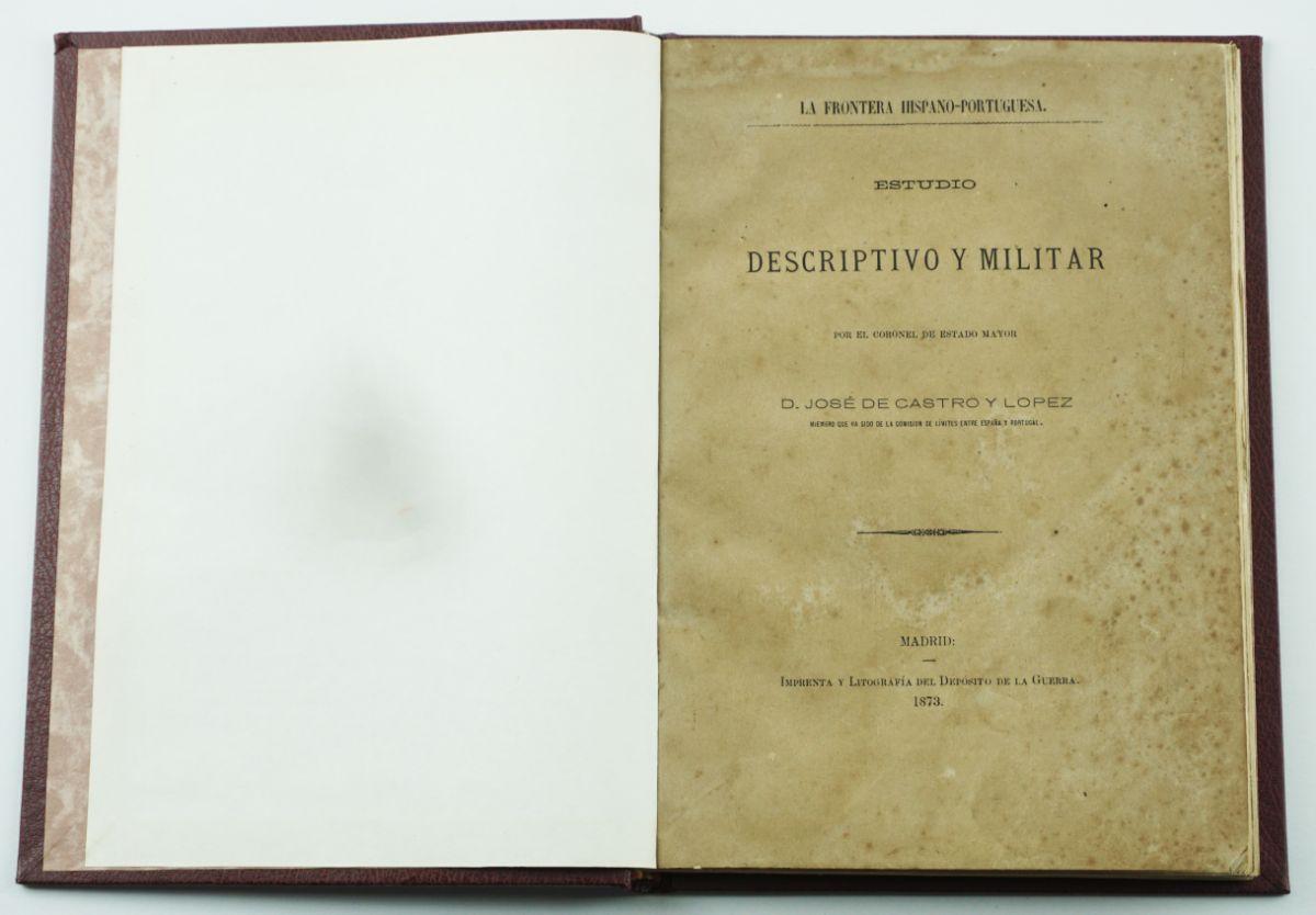 Livro militar espanhol sobre a fronteira portuguesa (1873)