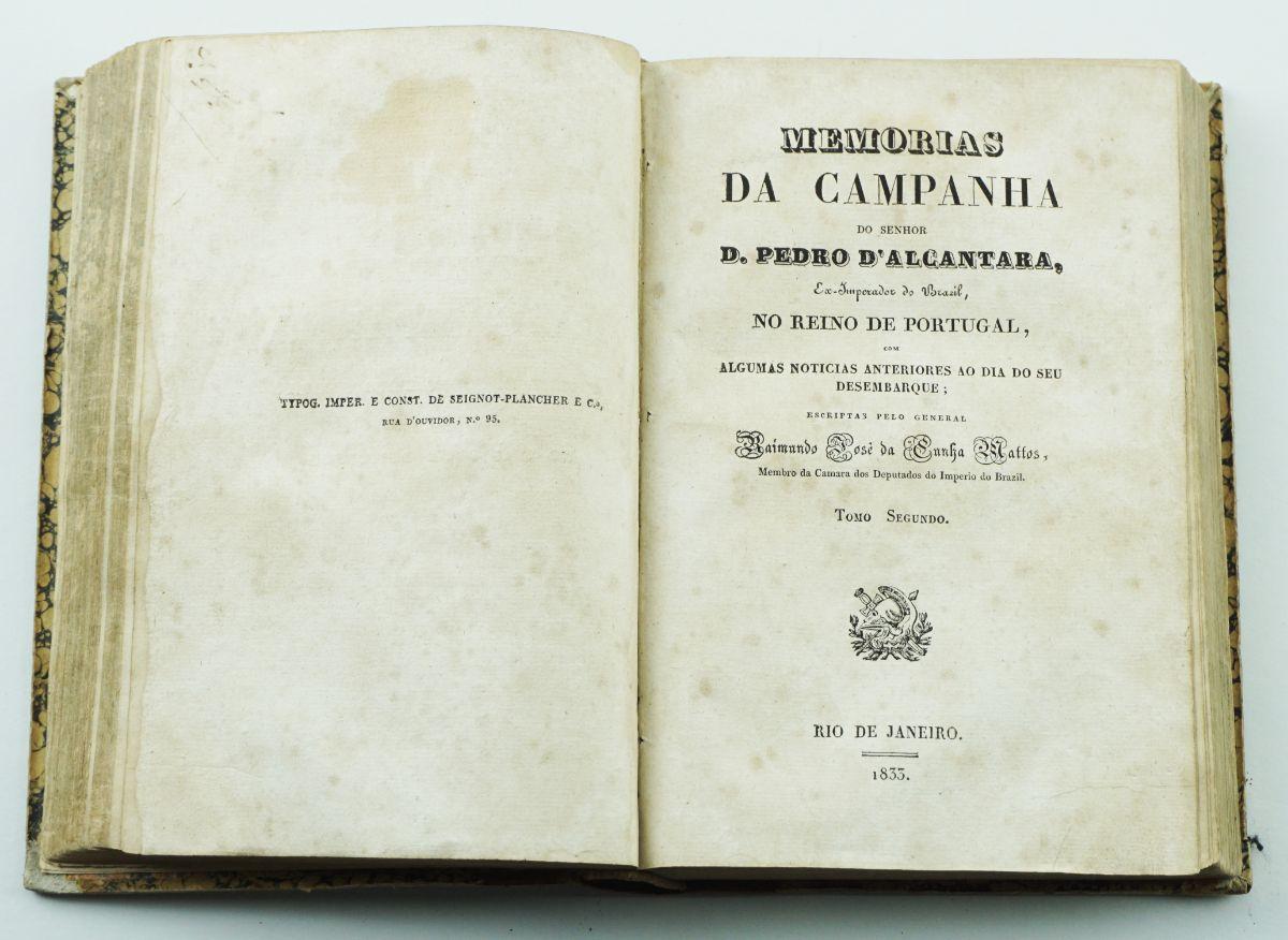 Guerras Liberais – rara obra impressa no Brasil (1833)